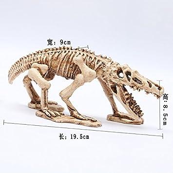 Pet Online Aquarium Deko Totenkopf Dekoration Dinosaurier Landschaftsgestaltung Aquarium Harz Handwerk Amazon De Haustier