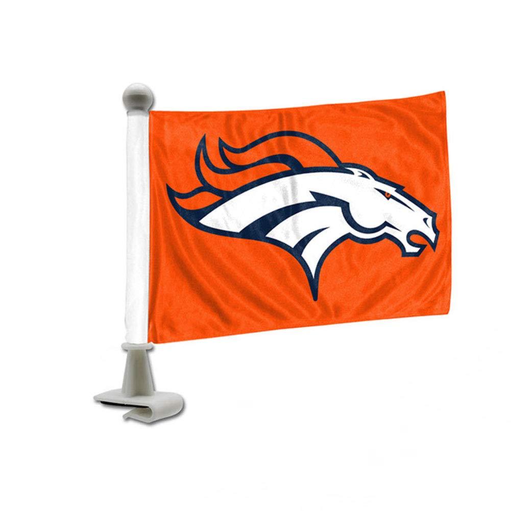 NFL Team Ambassador Car Flag - Low Profile 4 X 6 - Denver Broncos Johnson Smith Co.