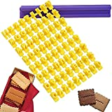 VONOTO 2 Sets (One Set of 72pcs) Alphabet Number & Letter Cookie Biscuit Stamp Embosser Cutter Fondant DIY Too