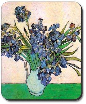 (Van Gogh - Vase & Irises Mouse Pad)