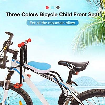 Ksruee Asiento Infantil para Bicicleta de Montaña con Pasamanos - Asiento Infantil para Bicicleta - Pedal Plegable - Altura Ajustable: Amazon.es: Hogar