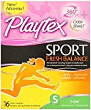 Playtex Tampons Sport Fresh Balance Super 16 Ct (2 Pack)