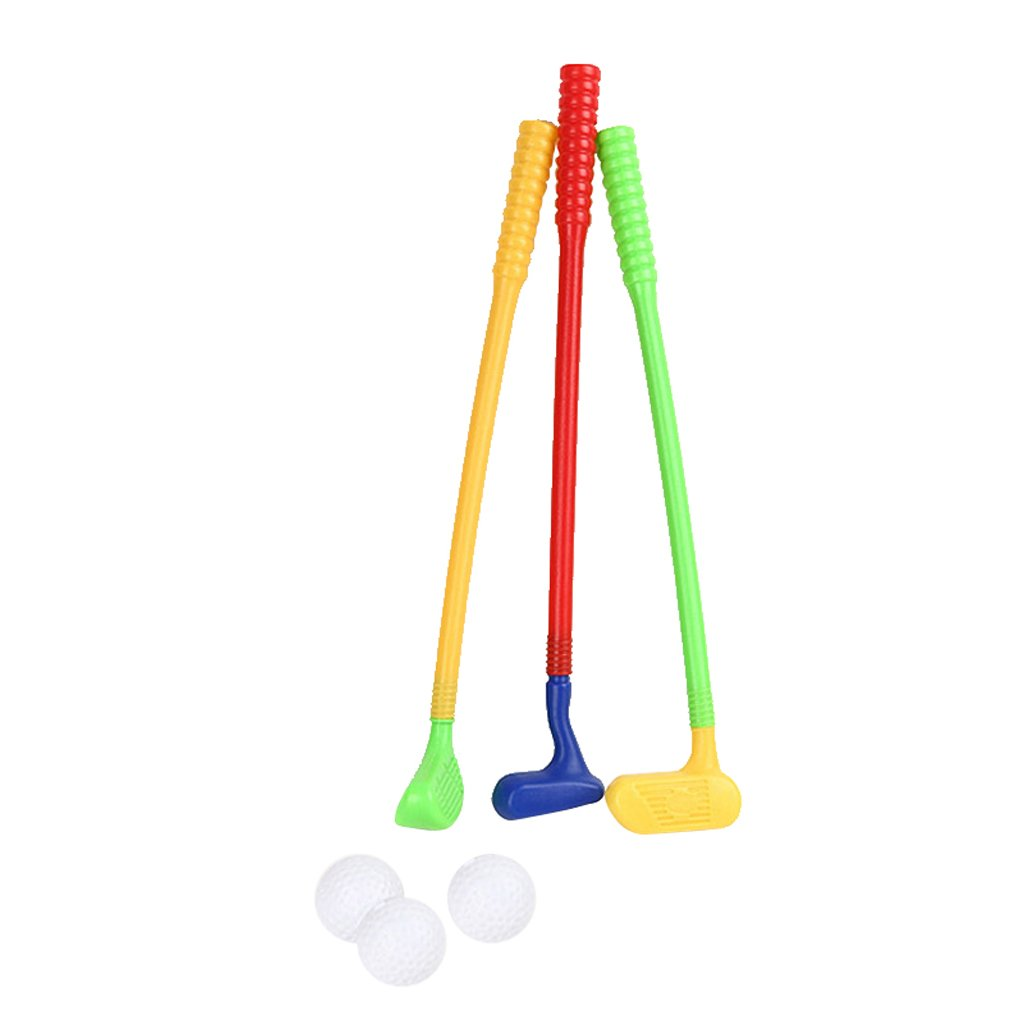 CUTICATE Kunststoff Tragbare Mini Golfball Rod Set Kinder Outdoor Fun Park Garten Spielzeug