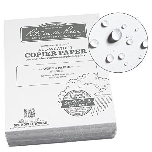 Rite in the Rain Weatherproof Bulk Copier Paper, 8 1/2