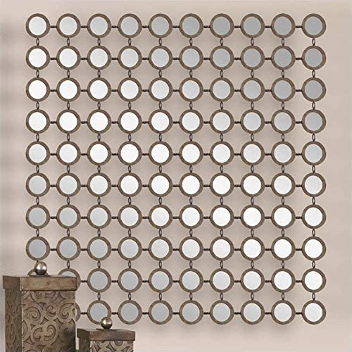 Uttermost Dinuba Mirror in Lightly Antiqued Silver Champagne