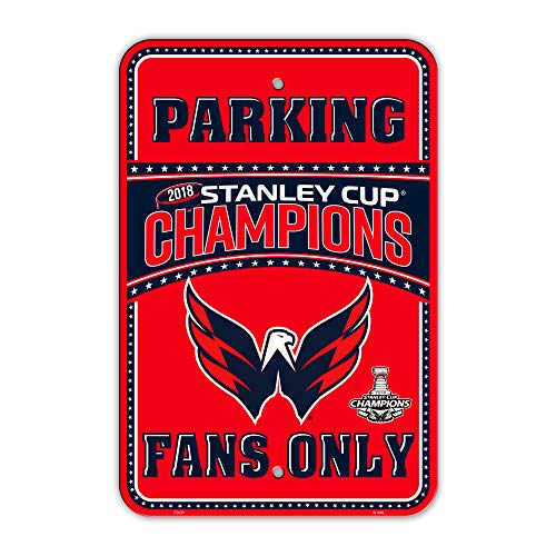 (NHL Washington Capitals Plastic Parking Sign, Red & Navy, )