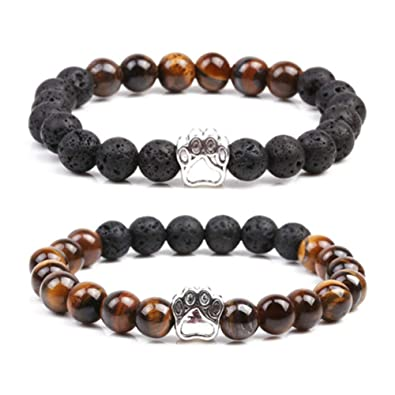 SIVITE 7 Chakra Gemstone Tiger Eye ite Weathered Agate Beads Bracelet Yoga Energy Healing Bracelet