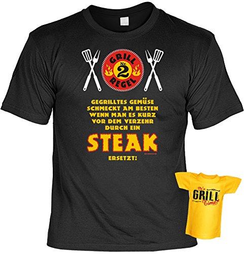 Witziges Grill Fun-Tshirt - Tolles Geschenk - Griller Set Goodman Design® auch in Übergrößen Gr: 5XL Farbe: schwarz