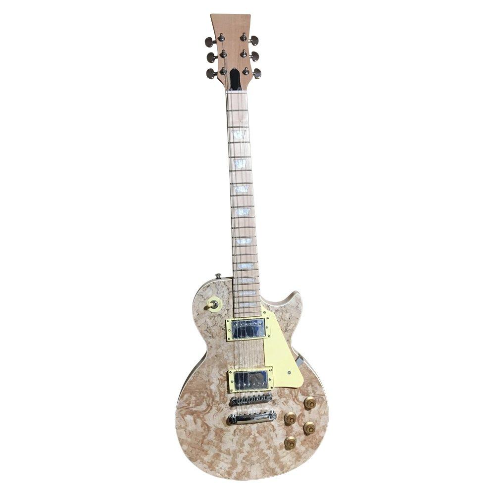 gdlp710ms Hazlo tú mismo Guitarra Eléctrica KITS, estilo MACIZO Caoba Cuerpo Con Spalted Arce Chapa (set en cuello): Amazon.es: Instrumentos musicales