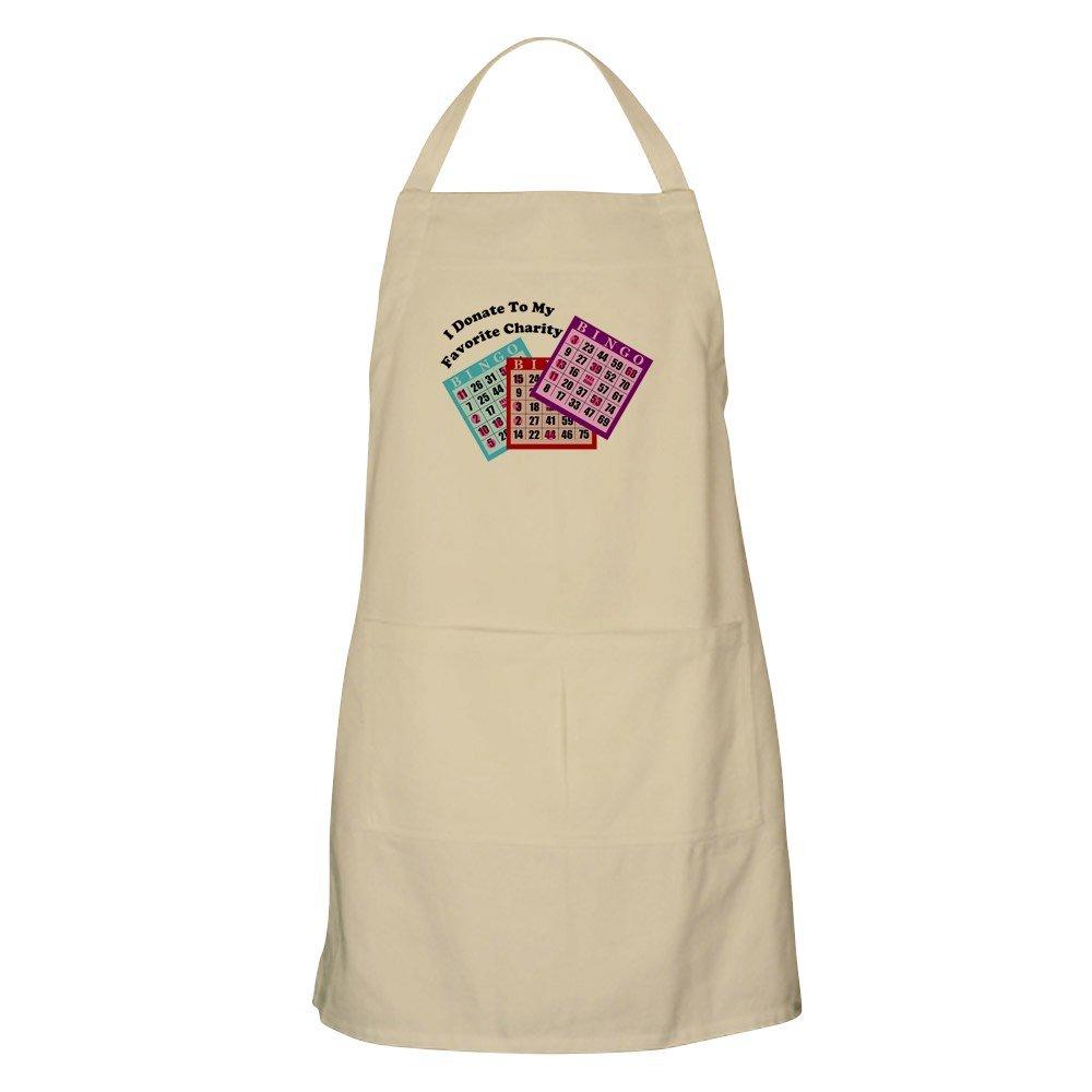 CafePress - I Donate To Bingo BBQ Apron - Kitchen Apron with Pockets, Grilling Apron, Baking Apron