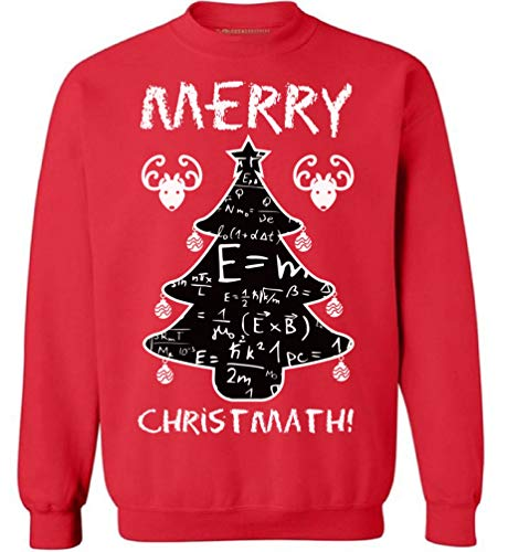 Awkward Styles Merry Christmath Sweatshirt Funny Science Sweater Ugly Xmas Gifts Red M