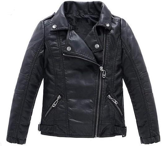 Stesti Winter Jacket for Girls Faux Leather Coat Kids Girl Winter Coat for Baby Girl