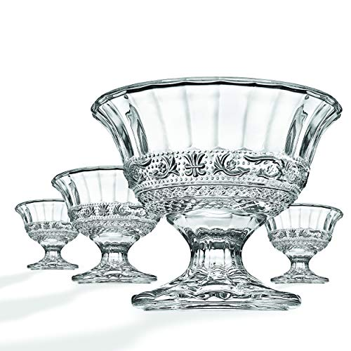 Renaissance Ice Cream Bowls, Set of - Lead Basket 24% Crystal