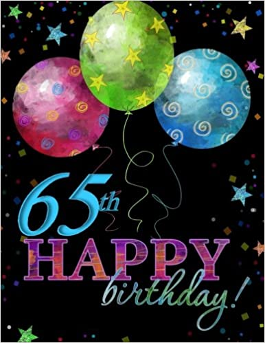 65th Happy Birthday Guest Book65th Party Supplies In Al65th Decorations Card Of65th Gifts