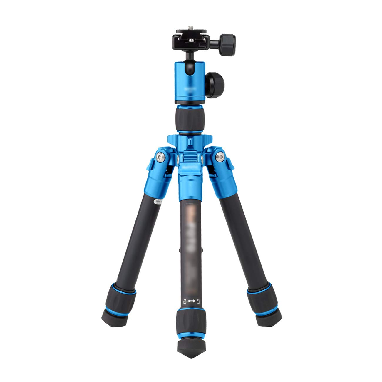 CJGXJZJ カメラ三脚 コンパクトで軽量 旅行用 アルミブラケット ポータブル デスクトップ 旅行 ストリートビート トライアングルブラケット 最大負荷 4KG マルチカラーオプション ブルー CHJG45648256  ブルー B07L8C8RNL