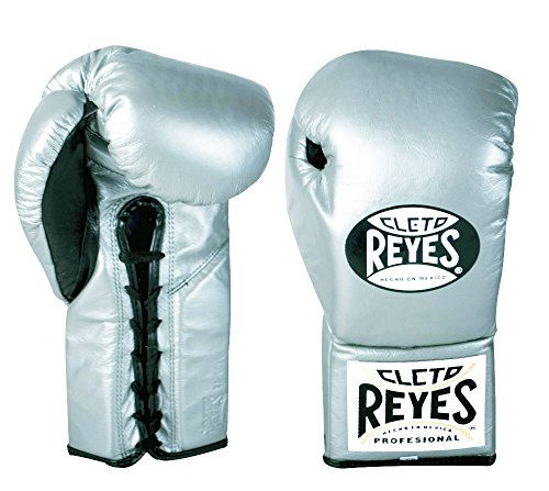 (Cleto Reyes Professional Fight Gloves - Official/Safetec (Titanium (Official Boxing Gloves), 10-Ounce))
