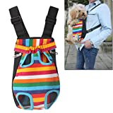 AMA(TM) Portable Front Pet Puppy Dog Cat Carrier Backpack Legs Out Carry Net Bag Free Your Hands (Large, Multicolor) Review