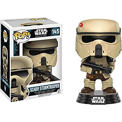 Funko Pop! Star Wars: Rogue One - Scarif Shoretrooper #145 Vinyl Figure (Includes Compatible Pop Box Protector Case): Toys & Games