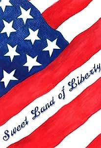 Toland Home Garden 1110861 Sweet Land of Liberty-Decorative Patriotic America Stars Stripes Garden Flag