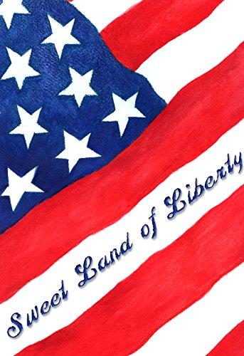 Toland Home Garden Sweet Land of Liberty-Decorative Patriotic America Stars Stripes House Flag -