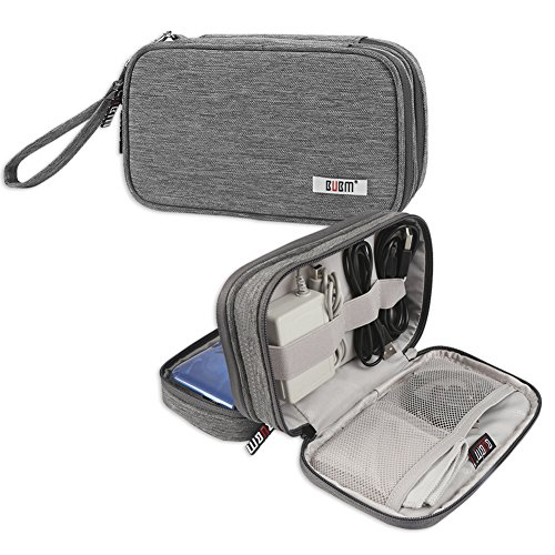 BUBM Double Compartment Storage Case for 3DS/3DS XL/New 2DS XL, Protective Carrying Bag, Portable Travel Organizer Case for 3DS/3DS XL/New 2DS XL and Accessories,Gray