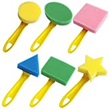 Set of 6 Early Learning Artist Studio Sponge Painters Painting Shapes for Kids