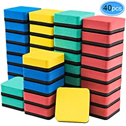 Dry Erase Erasers, 40 Pack Magnetic Whit...