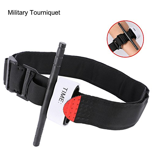 Tactical Emergency Tourniquet Outdoors One Handed Spinning Military Tourniquet, Medical Combat Military Issue Tourniquet,First Aid Equipment, The Best Life Saving First Aid Trauma Kit, Black