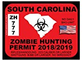 South Carolina Zombie Hunting Permit(Bumper Sticker)