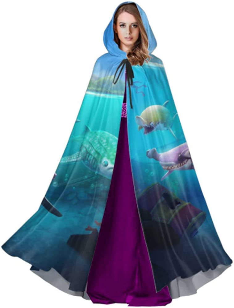 Hungry Shark World X iOS Android Shark Womens Cloak Cape Cape Cloak for Women 59inch for Christmas Halloween Cosplay Costumes