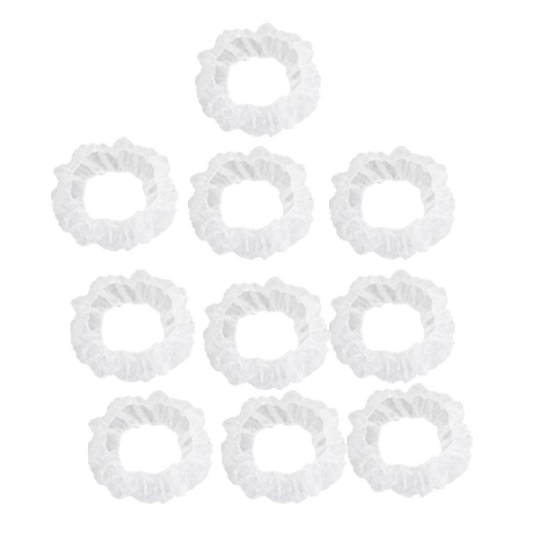 Sourcingmap Lot de 10 pi/èces en Plastique jetables Transparent Blanc Housse de Volant pour Voiture