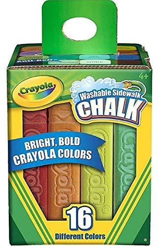 Crayola Washable Sidewalk Chalk 16 Ct. (Pack of 3)