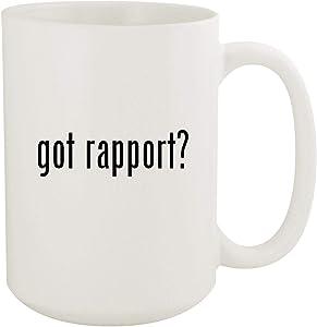 got rapport? - 15oz White Ceramic Coffee Mug