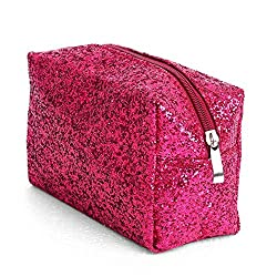 Accessories Makeup Bag In Rose Red Sequins