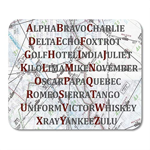 "Aikul Mousepad Pilot Aviation Alphabet Red and Gray Military Mouse Mat 9.5"" x7.9"" Mouse Pad Suitable for Notebook Desktop Computers Office Accessories"