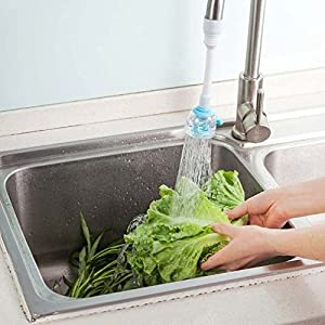 PVC Water Saving Spout Faucet Tap Nozzle Swivel Filter Sprayer Kitchen Kit #B9