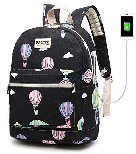 Laptop Backpack with USB Charging Port Waterproof School Bookbag Travel  Backpack for 15.6 Inch (Hot 22a3a773d388e