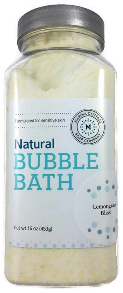 Marina Cottage Soap Co. Organic Powdered Bubble Bath, Lemongrass Bliss
