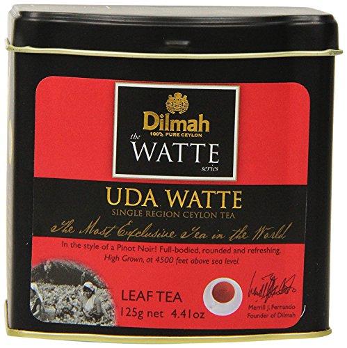 Dilmah Tea Uda Watte Loose Leaf Tea in Tin Caddy 125g (4.41oz) - Single Region Pure Ceylon Black Tea