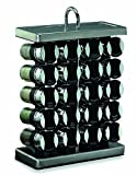 Olde Thompson 25-680 20-Jar Stainless-Steel Spice Rack with Spices