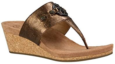 111070c1498 UGG Womens Briella Wedge Sandal Pony Brown Size 9