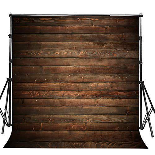 Sensfun 10x10ft Seamless Vinyl Wood Floor Photography Backdrop for Sweet 16 Birthday Halloween Party Old Brown Wood Plank Wooden Wall Photo booth Background Baby Adult Portrait Photoshoot Props(WP064) -
