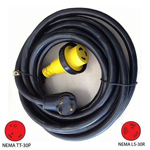 TruePower NEW! 50' RV/Camper/Trailer / 5th Wheel Extension Cord w/Twist Lock (30 Amp) (50') (Best 5th Wheel Rv Under 30 Feet)