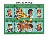 USPS Grenada 1992 Grammy Winners Dylan Aretha Streisand 8 Stamp Sheet #1501