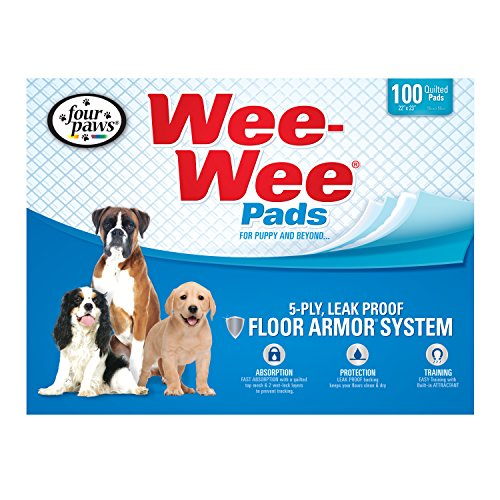 Four Paws Wee-Wee Dog Training Pads, 100-Pack - Housetraining Pads Puppy