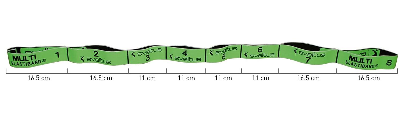 Sveltus Multi Elastiband 10kg vert