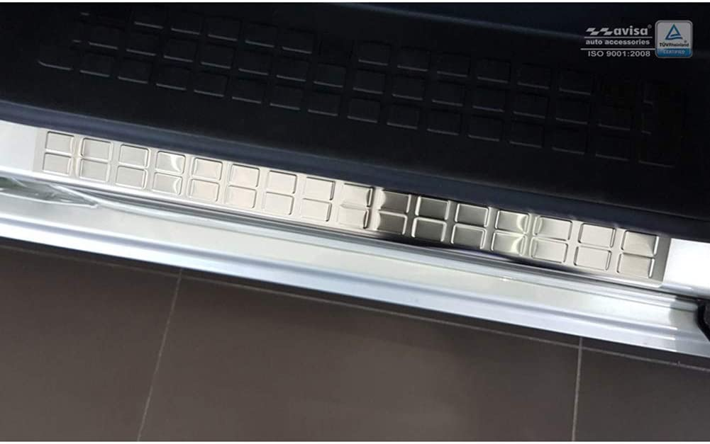 Argento 2-Pezzi Porte scorrevoli posteriores Avisa 2//16302 Listelli battitacco in Acciaio Inox Compatibile con Citro/ën Spacetourer//Peugeot Traveller//Toyota Proace 2016-Rectangles
