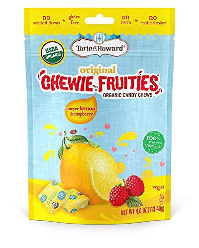 Torie & Howard Chewie Fruities Organic Candy Lemon & Raspberry, 4 Ounce Bag – PACK OF 2