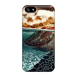New Style Hard Cases Covers For Iphone 5/5s- The Turtle In The Sea