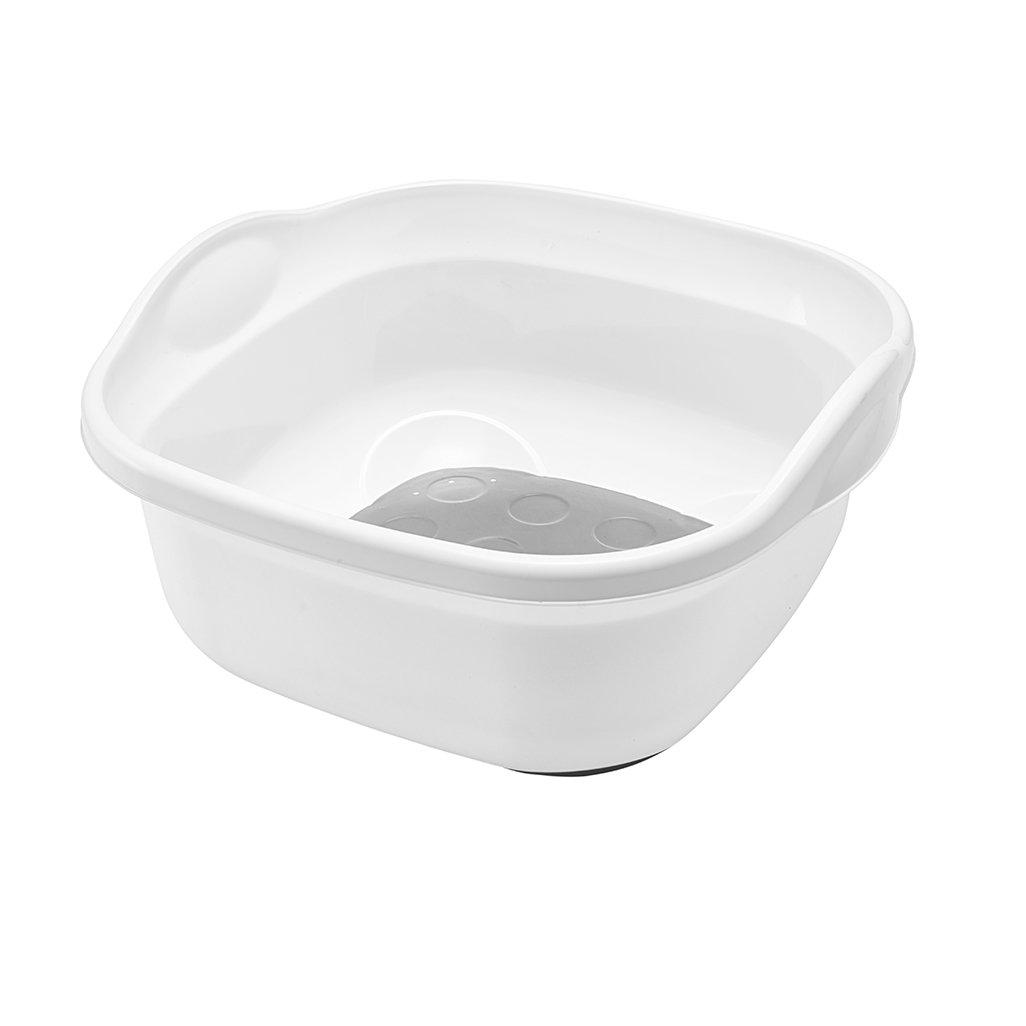 Addis Premium Soft Touch 8.5 Litre Washing up Bowl, White Grey, 31.5 ...